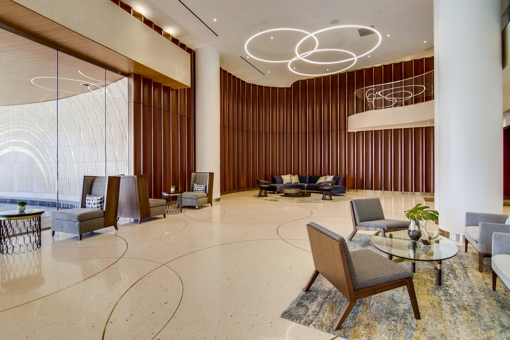Lobby at Pacific Gate Condominiums